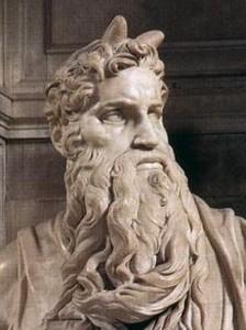 Mosesdarstellung von Michelangelo um 1515