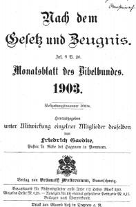 Nach dem Gesetz und Zeugnis 1903